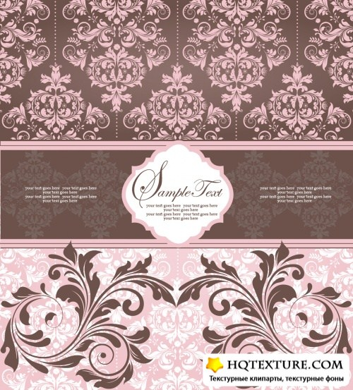 Pastel Floral Backgrounds Vector 2