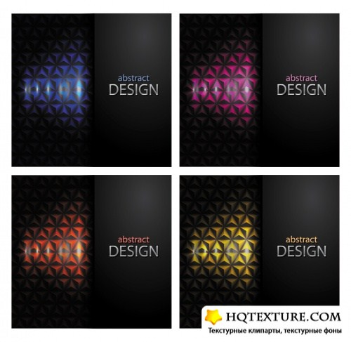 Abstract Color Business Cards Vector 3