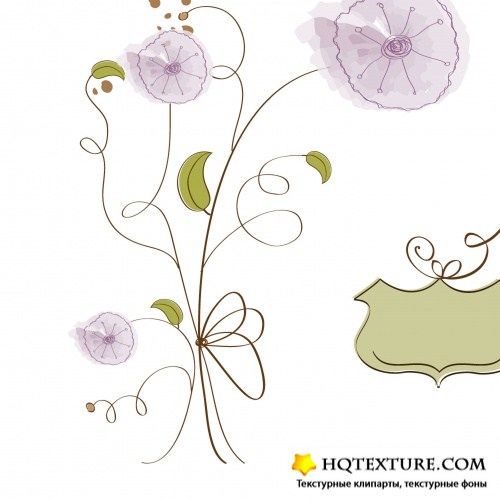 Romantic gentle flowers background