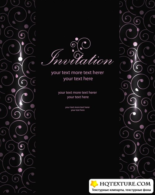 Luxury Invitations Vector