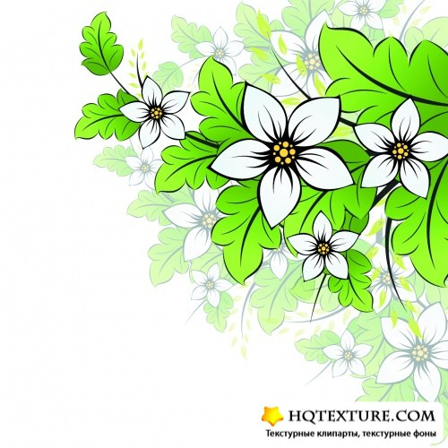 Simple Floral Backgrounds Vector