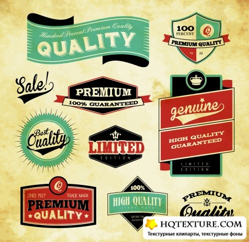 Premium Quality Labels Vector 2