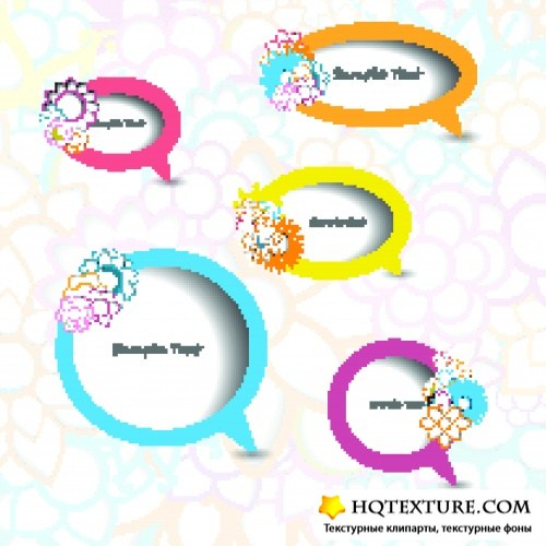 Круг и облако для текста | Circle and cloud for the text template vector