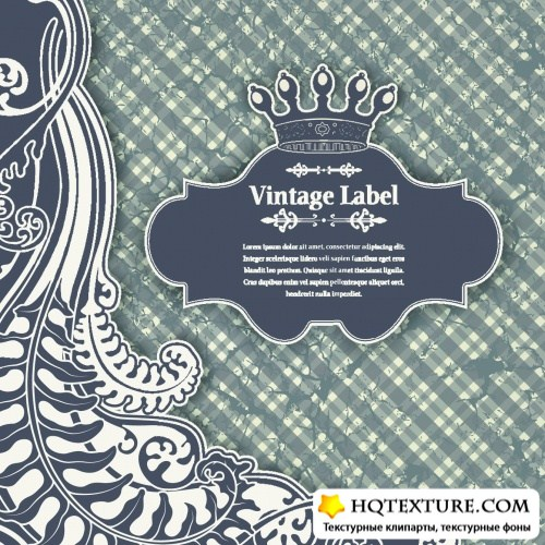 Royal Vintage Backgrounds Vector