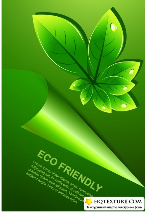 Green Eco Backgrounds Vector