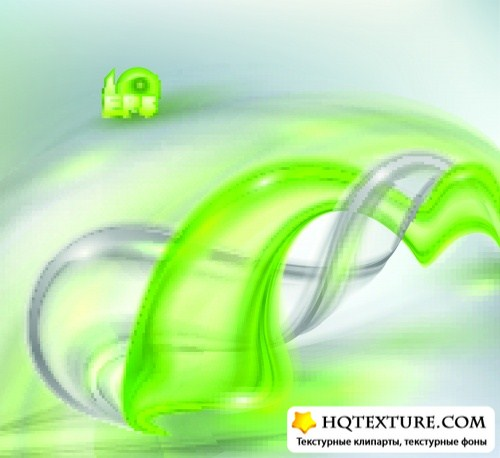 Green swirl vector background