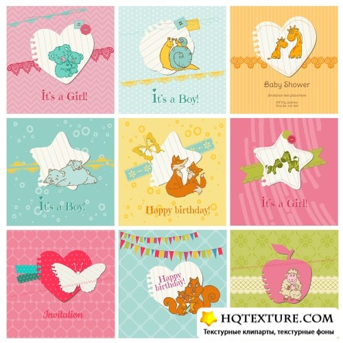 Baby vector cards