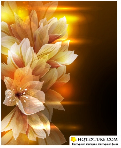Abstract Flowers Backgrounds Vector 4