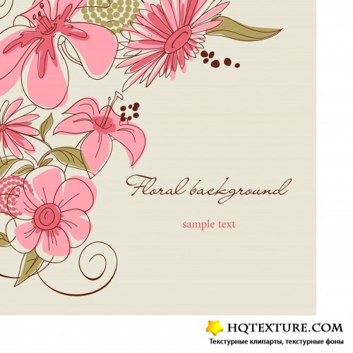 Festive floral background
