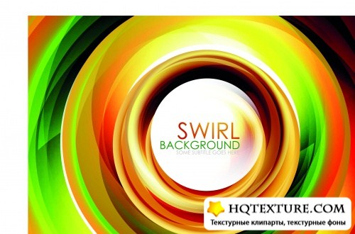 Векторный фон colorful swirl abstract background vector