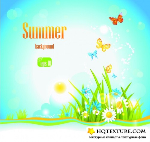 Summer Backgrounds & Banners Vector