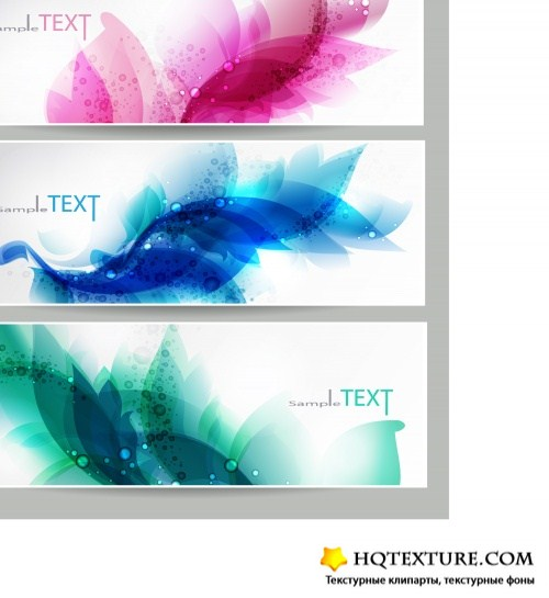 Bright abstract banners set