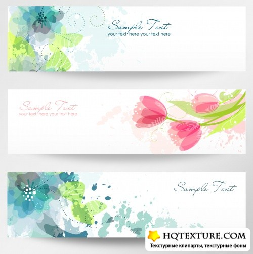 Flower banners 5