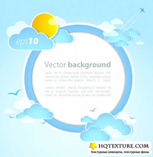 Weather Backgrounds Vector