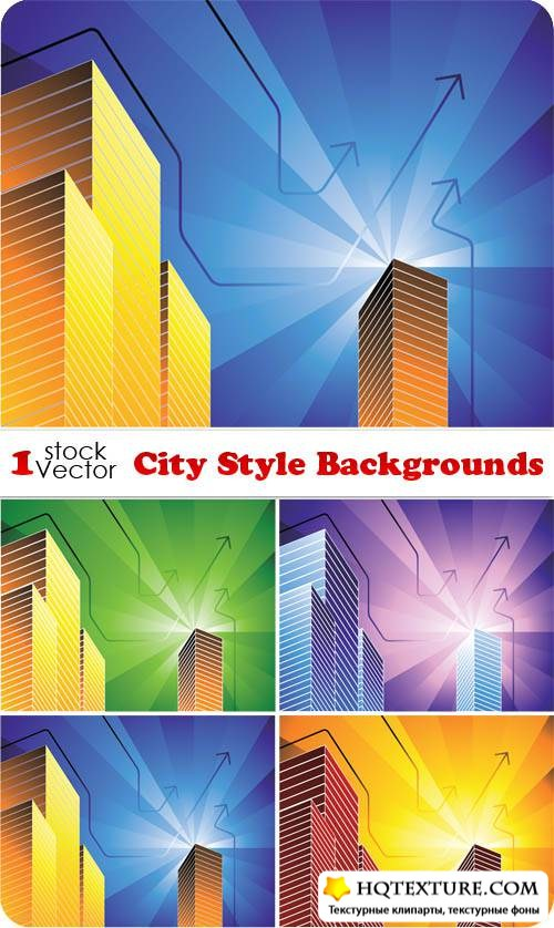 City Style Backgrounds Vector