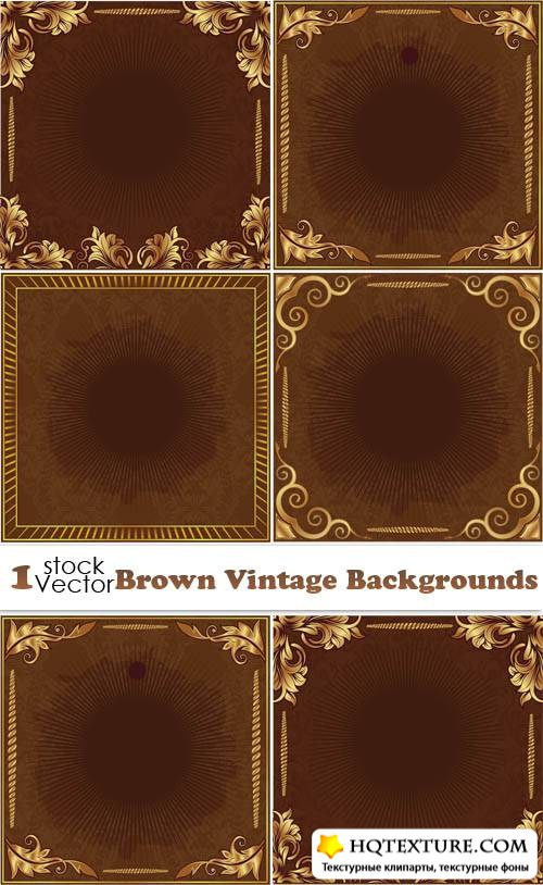 Brown Vintage Backgrounds Vector