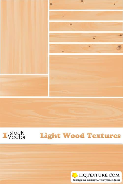 Light Wood Textures Vector