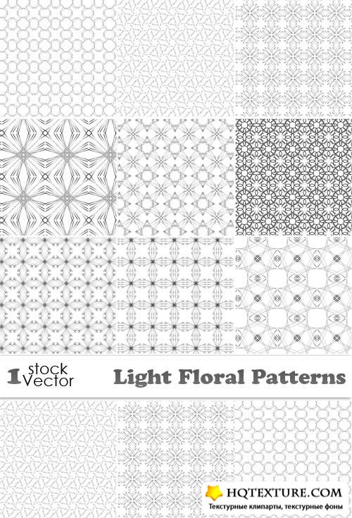 Light Floral Patterns Vector
