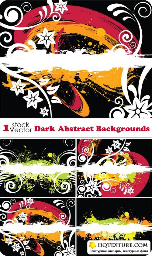 Dark Abstract Backgrounds Vector