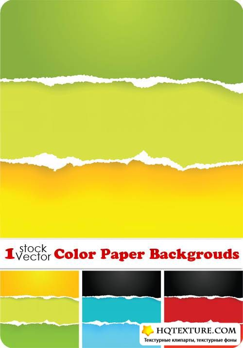 Color Paper Backgrouds Vector