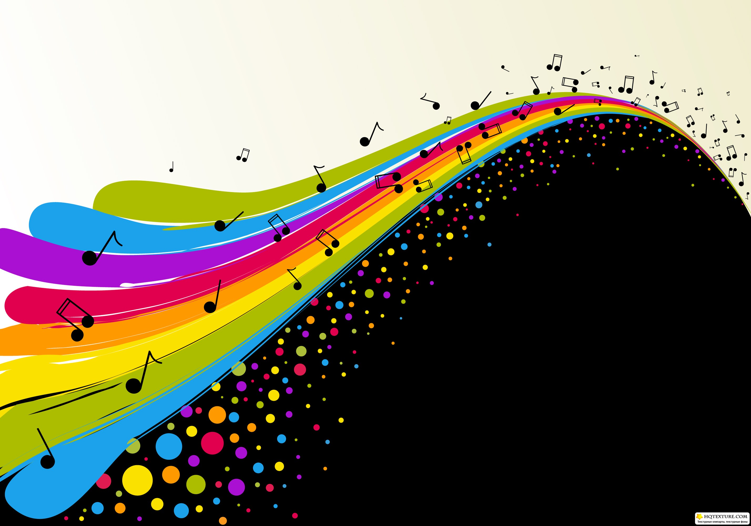 Rainbow Music Stock Images: Stock: Cards With Rainbow Wave » Векторные клипарты