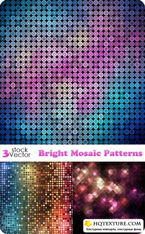 Bright Mosaic Patterns Vector