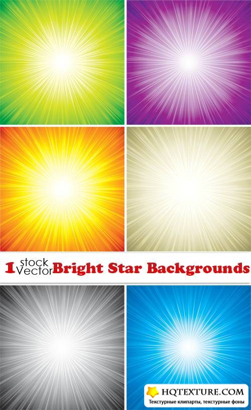 Bright Star Backgrounds Vector
