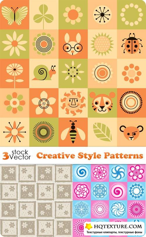 Creative Style Patterns Vectors