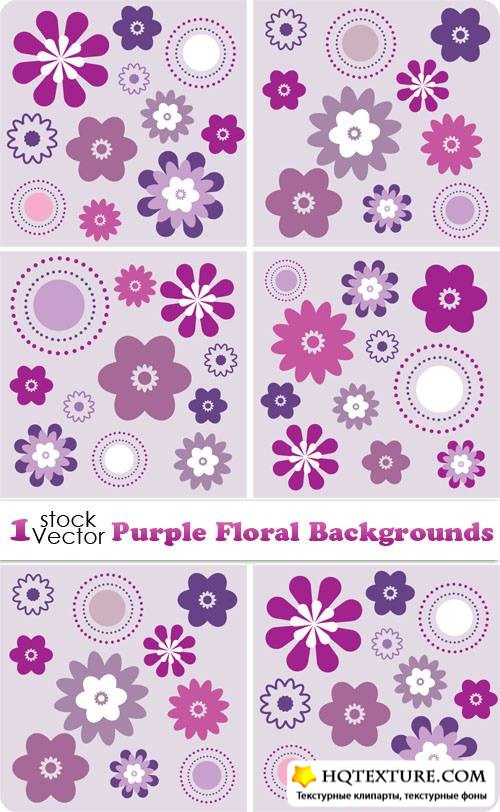 Purple Floral Backgrounds Vector