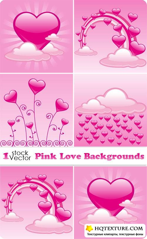 Pink Love Backgrounds Vector