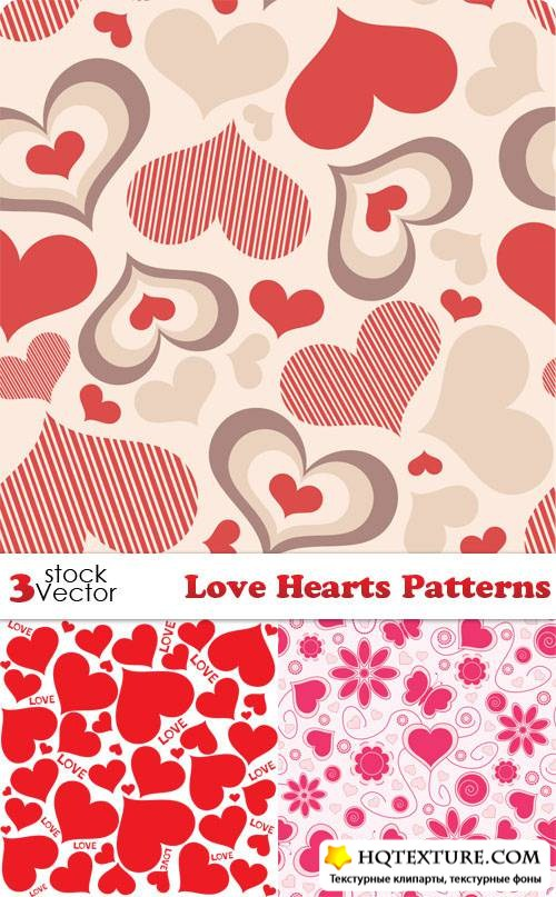 Love Hearts Patterns Vector