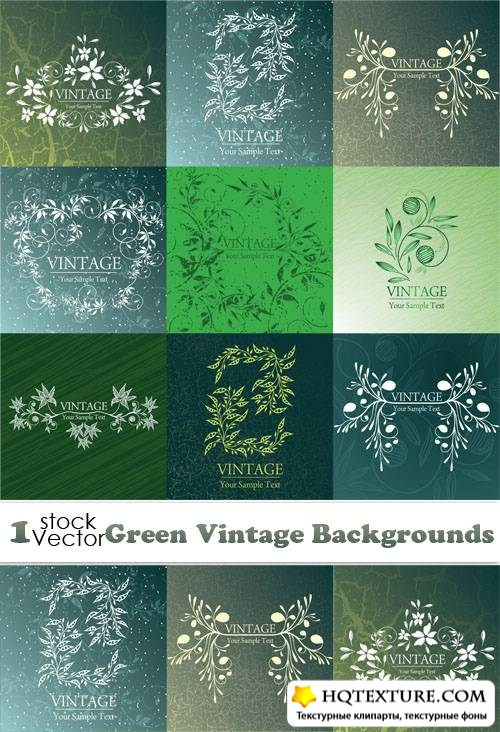 Green Vintage Backgrounds Vector