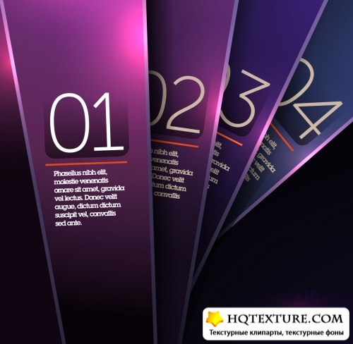 Shiny Purple & Blue Banners Vector
