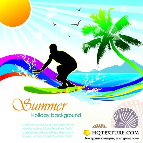 Summer Backgrounds Vector 5