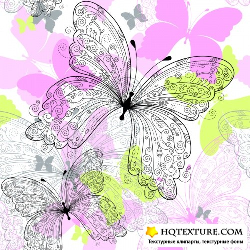 ��� � �������� 2 | Background with butterfly 2