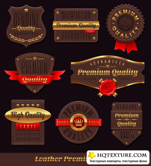 Premium Quality Golden Labels Vector