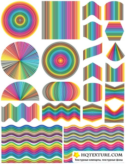 Design elements in rainbow colors