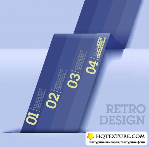 Retro Templates Vector