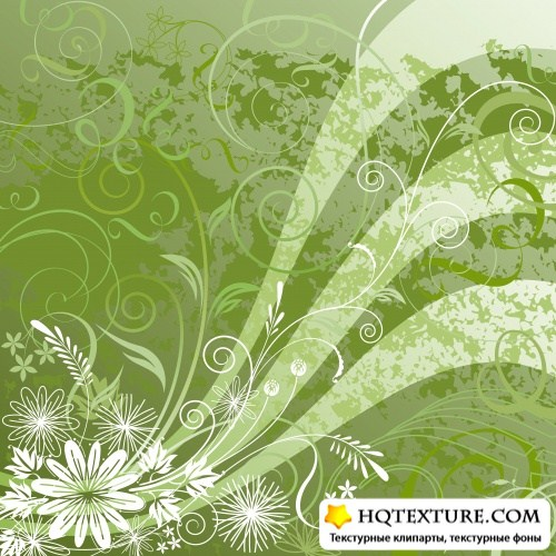 Stock: Floral background design, vector illustration