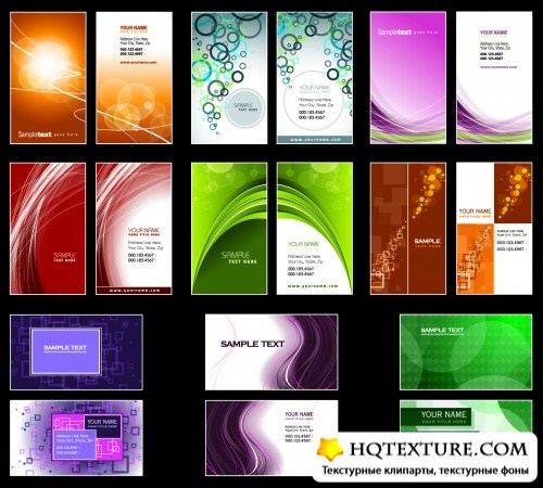 Color Business Cards Vector 5