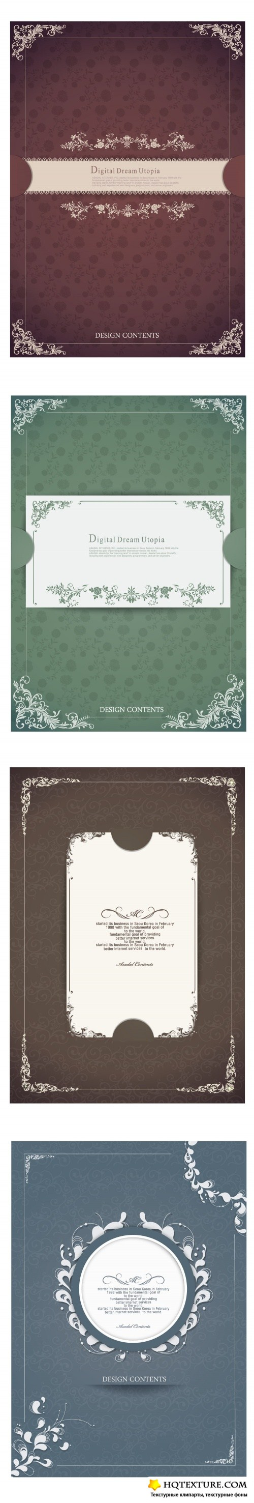 Vintage frames and backgrounds 4