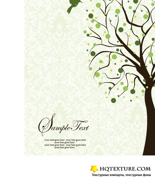 Trees silhouette card