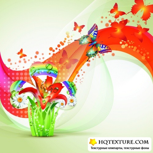 Spring Abstract Backgrounds Vector