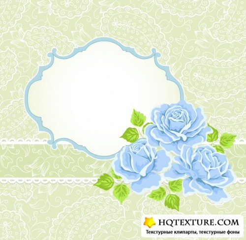 Delicate Backgrounds with Flowers Vector