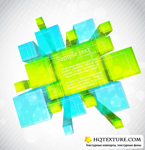 Абстрактный фон с кубами 4 | Abstract cube background 4