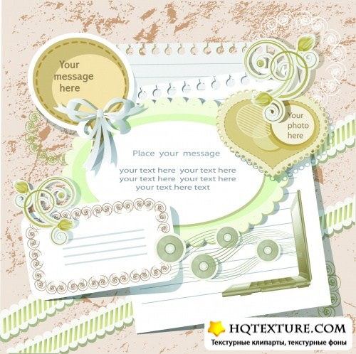 Vintage Scrapbook Elements Vector 2