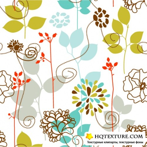 Backgrounds with bird and flowers