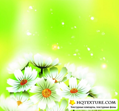 Bright green with daisies sleep