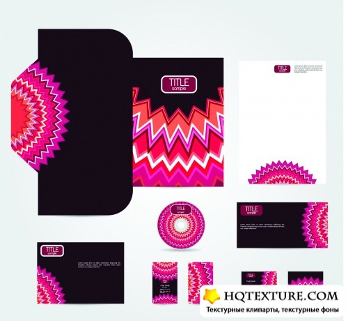 Corporate Style Floral Templates Vector
