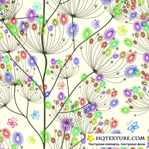 Color Floral Patterns Vector 3